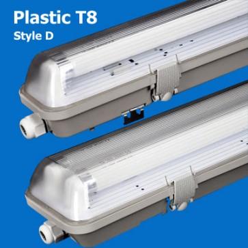 Plastic T8 Waterproof lamp fixture